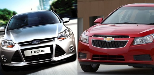 compare the chevy cruze vs ford focus. Black Bedroom Furniture Sets. Home Design Ideas